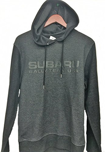 Subaru Striped Rally Team USA Hooded Hoodie Sweatshirt Sti Official Genuine WRX (Small) Dark Gray