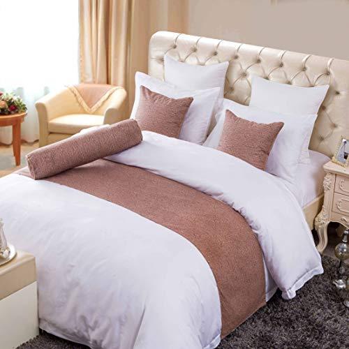 OSVINO eenvoudige Effen kleur Polyester Katoen Slaapkamer Guesthouse Bedding Bescherming Decor Bed Sjaal Runner