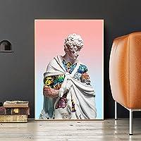 ファッションキャンバス絵画 デイビッドポスターデイビッド・絵画のグラフィティアートウォールストリートアートピクチャーリビングルームの壁の装飾の彫刻 (Color : Lye1375, Size (Inch) : No frame 50x70cm)
