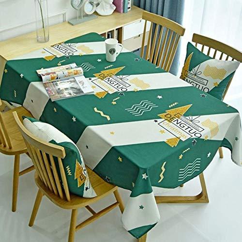 Kerstthema Stijl Tafelkleed Digitaal Klein Fris Engels Woord Waterdicht Koffiemantel Tafelkleed 140X210Cm