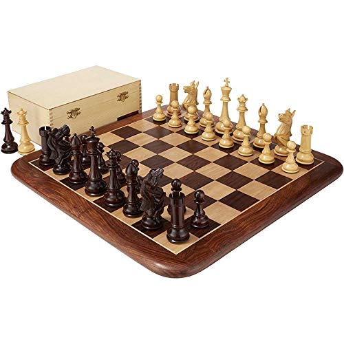 XHH Rosewood Chess Set & Storage Box - 6' King Height Chess Intelligence, Exchange Game Party