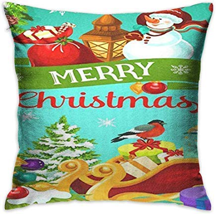 DJNGN Xmas Tree Snowflake Ball Cushion Covers Decorative Throw Pillow Covers 18 x 18 for Children Farmhouse Decor Cushions Case