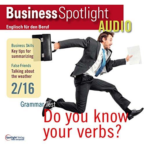 Business Spotlight Audio - Summarizing. 2/2016: Business-Englisch lernen - Informationen zusammenfassen
