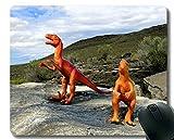 Yanteng Cojín de ratón de Goma Antideslizante del Juego, cojín de ratón del Dinosaurio del dragón con el Borde Cosido
