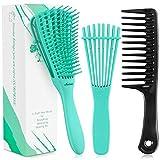 3 Pieces Detangling Brush Comb