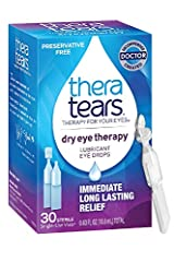 DRY EYE RELIEF: Use ThereTears Dry Eye Therapy Lubricant Eye Drops for immediate long lasting relief of dry eye symptoms RESTORE EYES NATURAL BALANCE: TheraTears electrolyte formula corrects the salt imbalance that can cause dry eye symptoms UNIQUE S...