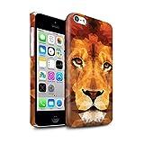 Stuff4 Clipser Brillant Coque de Coque pour Apple iPhone 5C / Lion Africain...