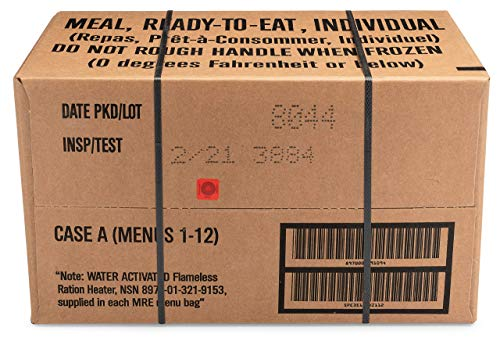Sopakco 12ct US Military Surplus MRE Meals Ready to Eat 2021 Inspect A Case Menus 1-12