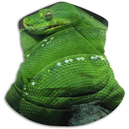 Linger In Green Boa Snake Neck Gaiter Face Mask Bandana Seamless Headband Ski Riding Running