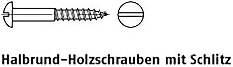 Houten schroeven DIN 96 A 2 3 x 10 A 2 PU = S 200 stuks
