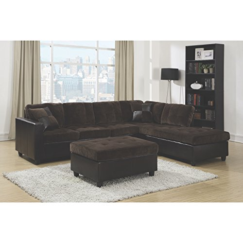 Mallory Reversible Sectional Dark Chocolate