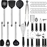 36er Küchenhelfer Küchenutensilien Set | Silikon Antihaft Hitzebeständiger Silikonspatel Set | Home Kitchen Cooking Tools Küchenhelfer Utensilien Kochgeschirr Kitt