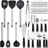 Set di 36 utensili da cucina | in silicone antiaderente resistente al calore |...