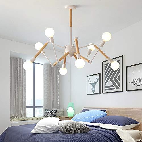S&shan Éclairage de salon moderne vintage d'araignée de lustre d'araignée de lustre de LED pour le lustre de restaurant de cuisine allume LED, 8 têtes