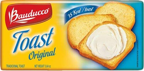 Bauducco Original Toast - 5.64 oz | Torrada Levemente Salgada Bauducco - 160g - (PACK OF 04)