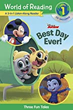 World of Reading World of Reading: Disney Jr.'s Best Day Ever! 3-in-1 Listen-Along Reader (Level 1)