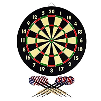 TG Dart Game-Set with Six Darts & Dartboard