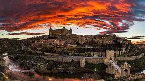 Adultos Puzzle 1000 Piezas Toledo, España De Madera Niño Rompecabezas Decoración Para El Hogar Diy Regalo Moderno Festival Juego Intelectual50*70CM