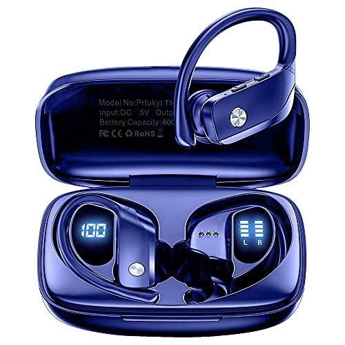 Cuffie Wireless, Auricolari Bluetooth Sport Senza Fili, Cuffiette Per Correre Intrauricolari Bassi Profondi di Alta Qualità 48 ore di gioco con Custodia di Ricarica per Sport, Corsa, Palestra
