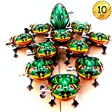 Heatoe 10 PCS Jumping Frogs, Retro Classic Wind up Tin Toys, Animal Clockwork Jumping Toys, Great Party Favor Gift for People