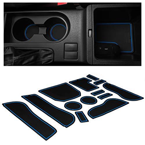 CupHolderHero Compatible with Subaru Impreza WRX Accessories 2009-2014 Premium Interior Non-Slip Anti Dust Cup Holder Inserts, Center Console Liner Mats, Door Pocket Liners 13-pc Set (Red Trim)