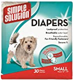 Simple Solution Disposable Dog Diapers for Female Dogs | Super Absorbent Leak-Proof Fit | Small | 30 Coun