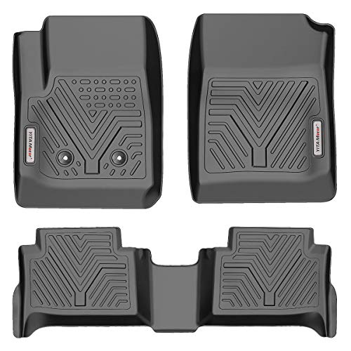 YITAMOTOR Floor Mats Compatible with 2015-2021 Chevy Colorado Crew Cab/GMC Canyon Crew Cab, Custom Fit Floor Liners, 1st & 2nd Row All Weather Protection, Black