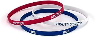 Atlético de Madrid Pulsera Classic Tricolor Estándar para Hombre | Pulsera de Silicona | Apoya Producto Oficial Colchonero | ATM