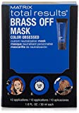Matrix Total Results Brass Off Color Depositing Custom Neutralization Hair Mask, Box of 10
