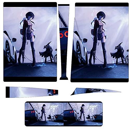 ONICEFIRE PS5 スキンシール デジタル アニメ-生化学戦士 プレイステーション5 専用 ステッカー 本体用 新型 保護 カバー セット アクセサリー 対応保護ケース 滑り止め 耐衝撃 傷つけ防止 playstation5 コントローラースキン 人気