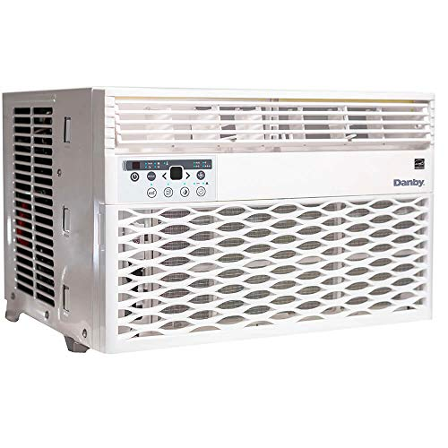 Danby DAC080EB6WDB 8,000 BTU Energy Star Window Air Conditioner, Programmable Timer, LED Display and Remote Control, Ideal for Rooms Up to 350 Square Feet, in White, 8000