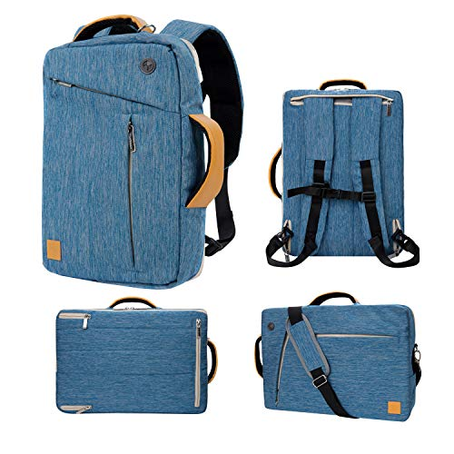 Womens 3 In 1 Convertible laptop Backpack Briefcase Messenger Shoulder Bag 13 13.3 Inch for MacBook Pro Air Surface Book Surface Laptop 3 2 Dell XPS 13 Notebook Chromebook