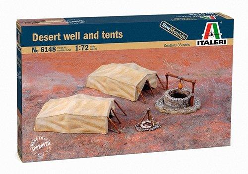 Italeri 510006148 - 1:72 woestententent, putten en tenten