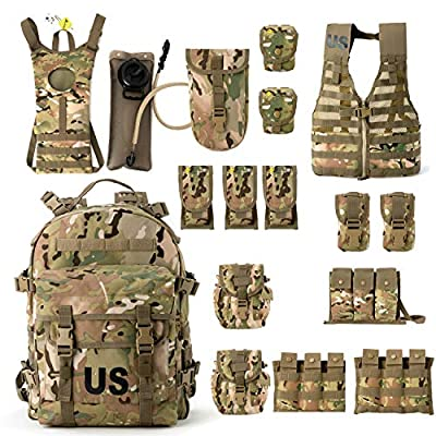 US Military Surplus Molle II Rifleman Tactical Rucksack Assault Pack,FLC Combat Vest Multicam