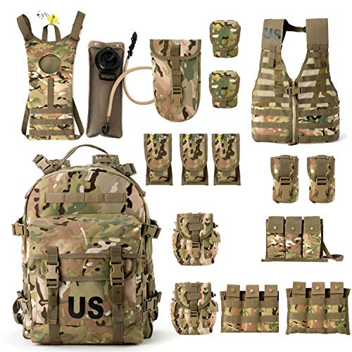 Military Surplus Molle II Rifleman Tactical Rucksack Assault Pack,FLC Combat Vest Multicam