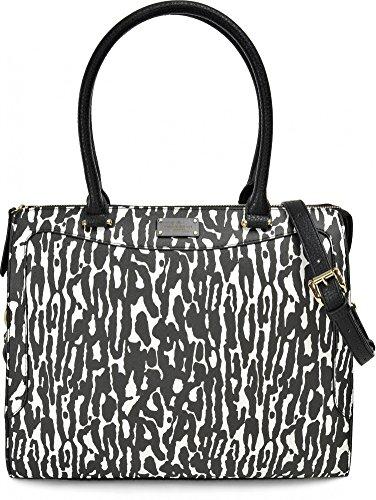 Pauls Boutique, Jasmine, dames handtassen, shopper, tassen, schoudertassen, luipaard, zwart wit, 35 x 29 x 16 cm (B x H x D)
