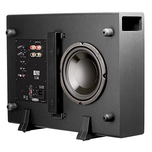 "OSD Audio 200W Home Theater Powered Subwoofer – 8"" Woofer, Low Profile - SS-8"