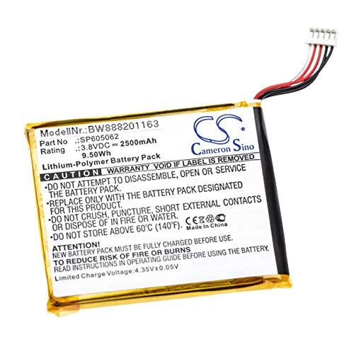 vhbw Battery compatible with vtech 80-169500, KidiBuzz Tablet (2500mAh, 3.8V, Li-Polymer)