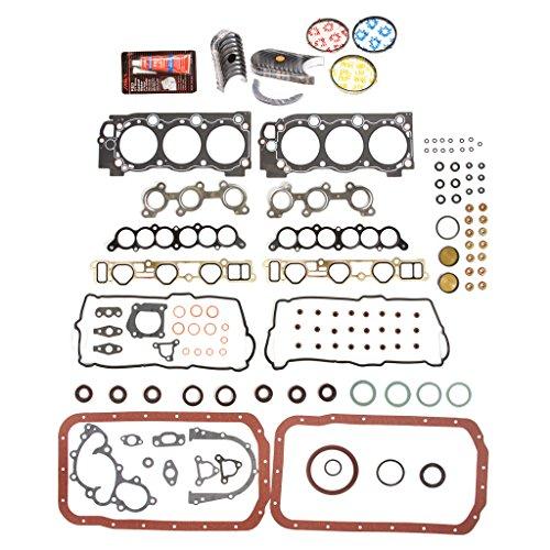 Evergreen Engine Rering Kit FSBRR2034EVE Compatible With 95-04 Toyota 4Runner Tacoma 5VZFE Full Gasket Set, Standard Size Main Rod Bearings, 0.50mm / 0.020' Oversize Piston Rings