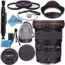 Canon EF 16-35mm f/2.8L III USM Lens 0573C002 + 82mm 3 Piece Filter Kit + Deluxe Cleaning Kit + Lens Pen Cleaner + Fibercloth + Lens Capkeeper Bundle