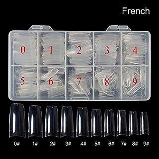500Pcs/Box Artificial Nails Transparent Half/Full Cover/French Nail Art Tips Acrylic UV Gel DIY Tools