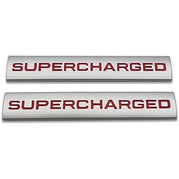 Chrome Black 1x 3D Chrome Finish Metal SUPERCHARGED Emblem Alloy Badge Sticker