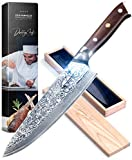 Best Chefs Knives - Daddy Chef Chef Knife 8 inch - Damascus Review