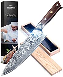 Best Damascus Kitchen Knives and Chef Knives 9