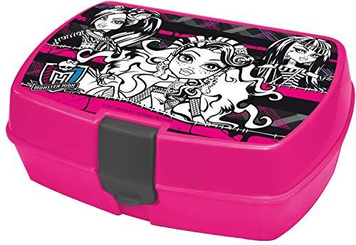 ALMACENESADAN 2214, sandwichera Rectangular Multicolor Monster High; Producto de plástico; Libre BPA