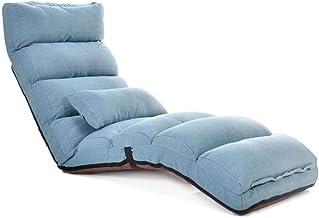 LJFYXZ Foldable Padded Floor Chair Multifunctional Recliner Multi-Speed Adjustment Convenient Storage Bedroom Living Room ...