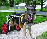 Ajustable para silla de ruedas para perro (L), peso 60to 100libras, patas traseras...