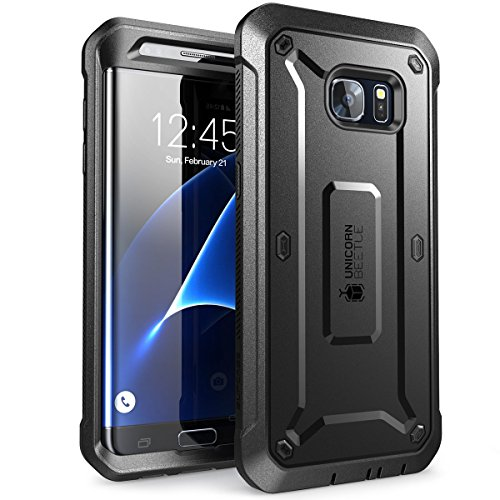 SUPCASE Unicorn Beetle Pro Series Case Designed for Galaxy S7 Edge, Full-Body Rugged Holster Case Without Built-in Screen Protector for Samsung Galaxy S7 Edge (2016 Release) (Black/Black)