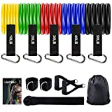 Mansso Resistance Bands Set, 5 Stackable Up to 150 lb Workout Bands with Handles for Men, Resistant...