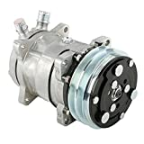 Speedway Motors Sanden 508 V-Belt A/C Compressor, Plain